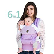 LÍLLÉbaby The COMPLETE Embossed Luxe March of Dimes SIX-Position 360° Ergonomic Baby & Child Carrier, March of Dimes Lavender - Ergonomic Multi-Position Baby Carrier for Infants