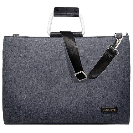 Monsatto Slim Laptop Bag 14 15-15.6 Inch with Handle   Removable Shoulder  Strap a5786d00d