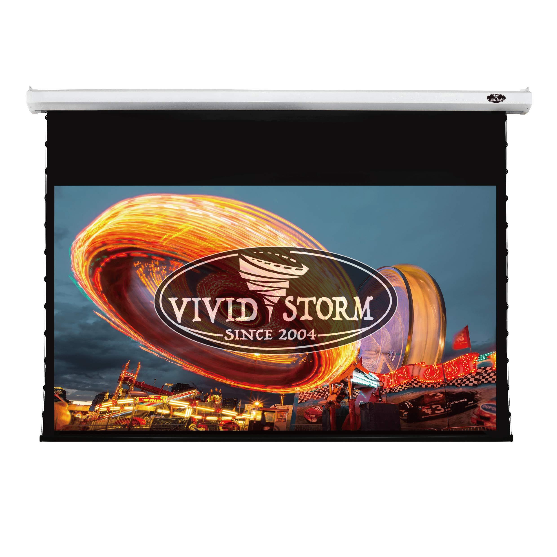 VIVIDSTORM 4K/3D/UHD Deluxe Tab-tensioned Projector Screen,120-inch Diagonal 16:9, with White V Cinema PVC Screen Material, with Wireless 12V Projector Trigger,Model: V6JLW120H