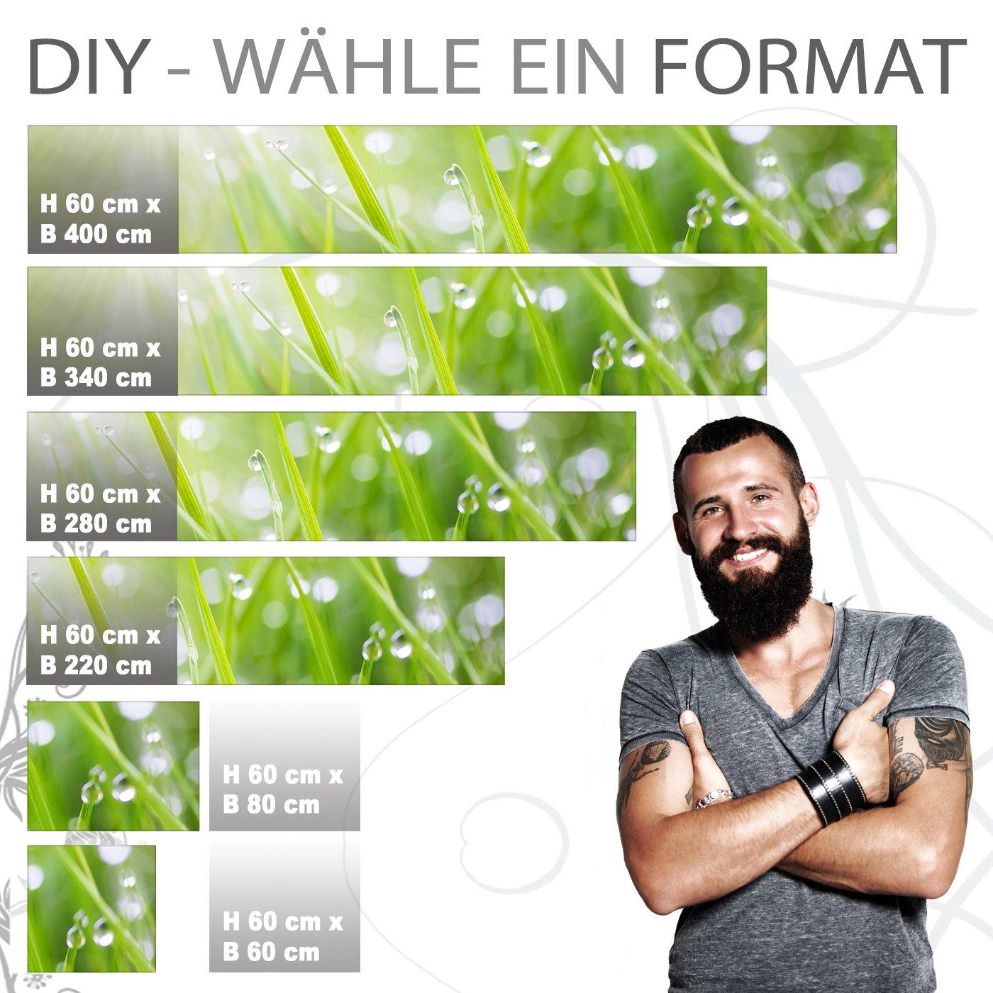 StickerProfis Küchenrückwand selbstklebend Pro MODERN Grass 60 x 340cm DIY DIY DIY - Do It Yourself PVC Spritzschutz 1d4507