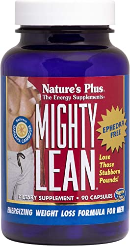 NaturesPlus Mighty Lean – 100 mg Garcinia Cambogia, 90 Capsules – Ephedra-Free Weight Loss Support Supplement with Rhodiola, Eleuthero, Korean Ginseng – Gluten-Free – 30 Servings