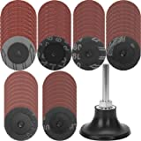 60 Pieces Roloc Quick Change Discs Set, GOH DODD 2 inch Sanding Discs with 1/4' Holder for Die Grinder Surface Prep…