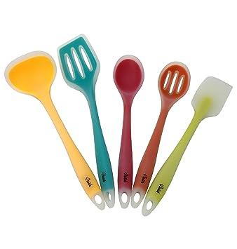 Amazon.com: Premium Silicone Kitchen Utensil Set, New 5 Piece Cute ...