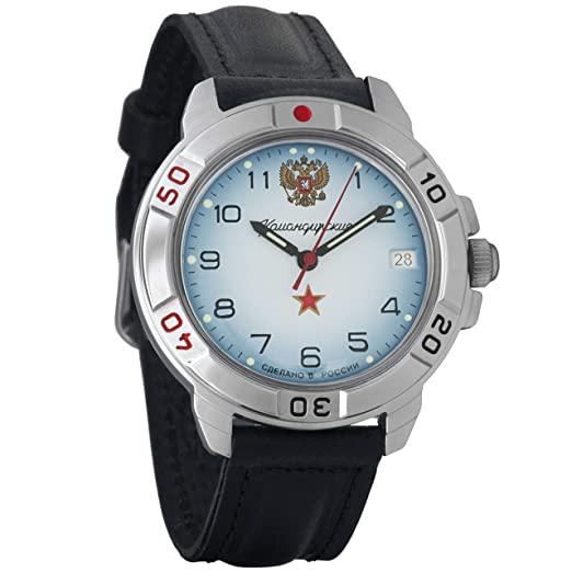 4533ed2974da Vostok Komandirskie Military Russian Mechanical Mens Wrist Watch  2414A 431323  Amazon.co.uk  Watches