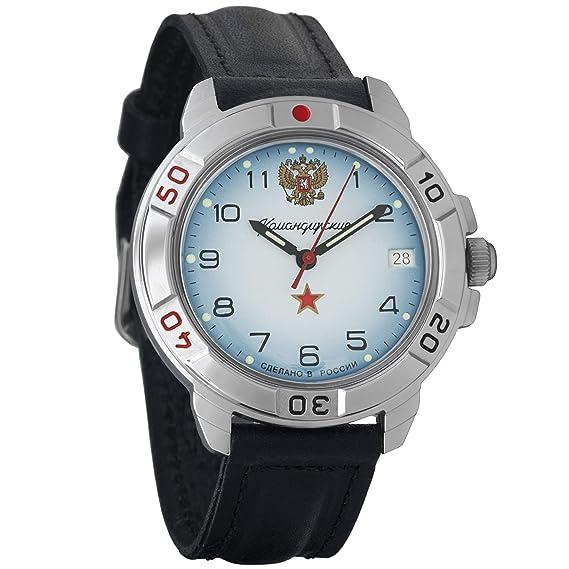 Vostok Komandirskie #431323 Commander 2414 - Reloj de pulsera con movimiento mecánico del ejército ruso: Amazon.es: Relojes