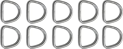 """4mm x 25mm Stainless Steel 316 D Ring 5//32/"""" x 1/"""" Marine Grade"""