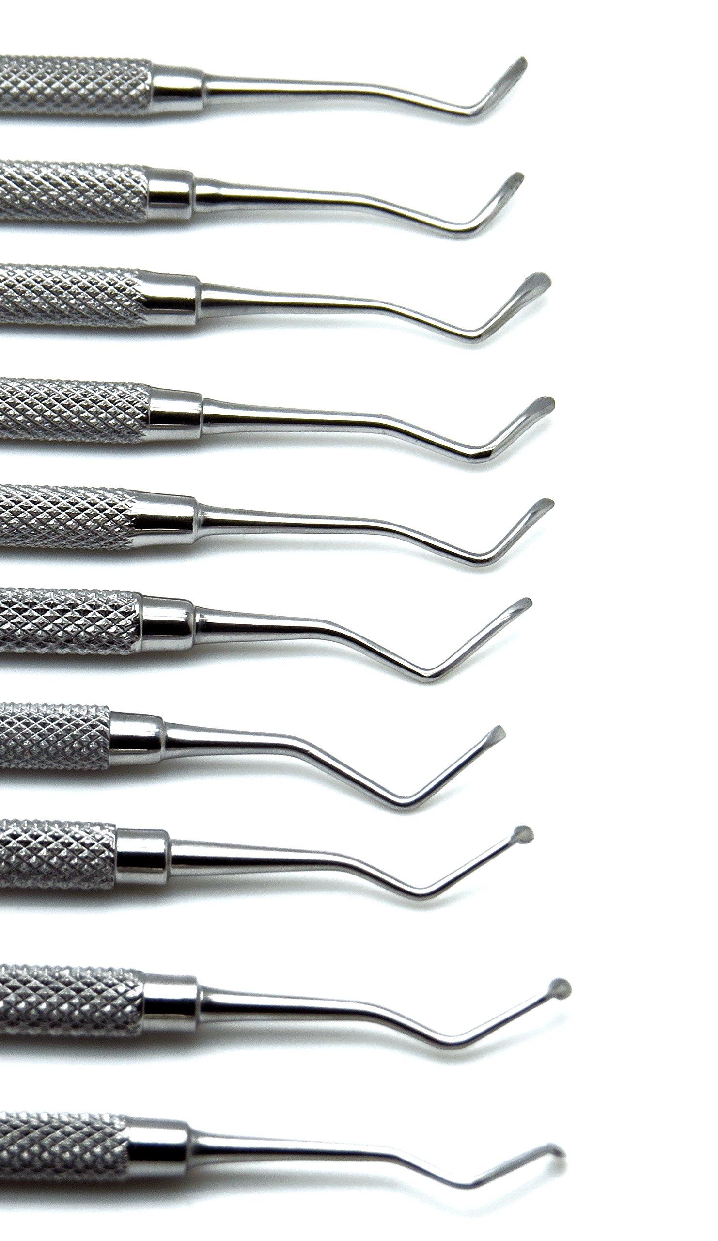 10 Pcs Dental Superior Excavator Spoon Ends 1mm-2.5mm Restorative Instrument by Superior (Image #4)