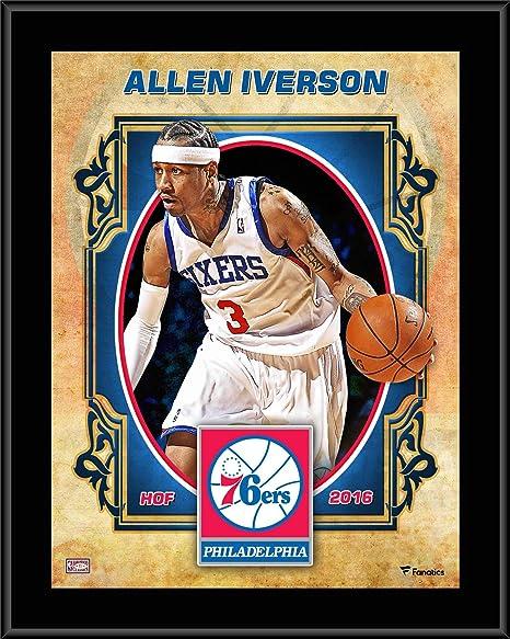Allen Iverson Philadelphia 76ers 10.5 quot  x 13 quot  Sublimated Hardwood  Classics Player Plaque - NBA 62d66808c