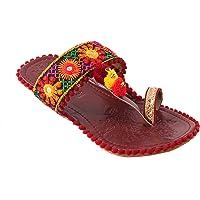 Rajasthani Jaipuri work Kolhapuri Partywear ethnic womens girls ladies selipper pur