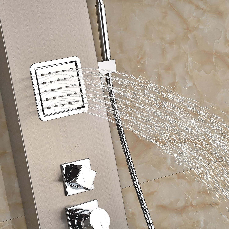 Rozin masaje panel de ducha w/mano ducha columna de ducha acero ...