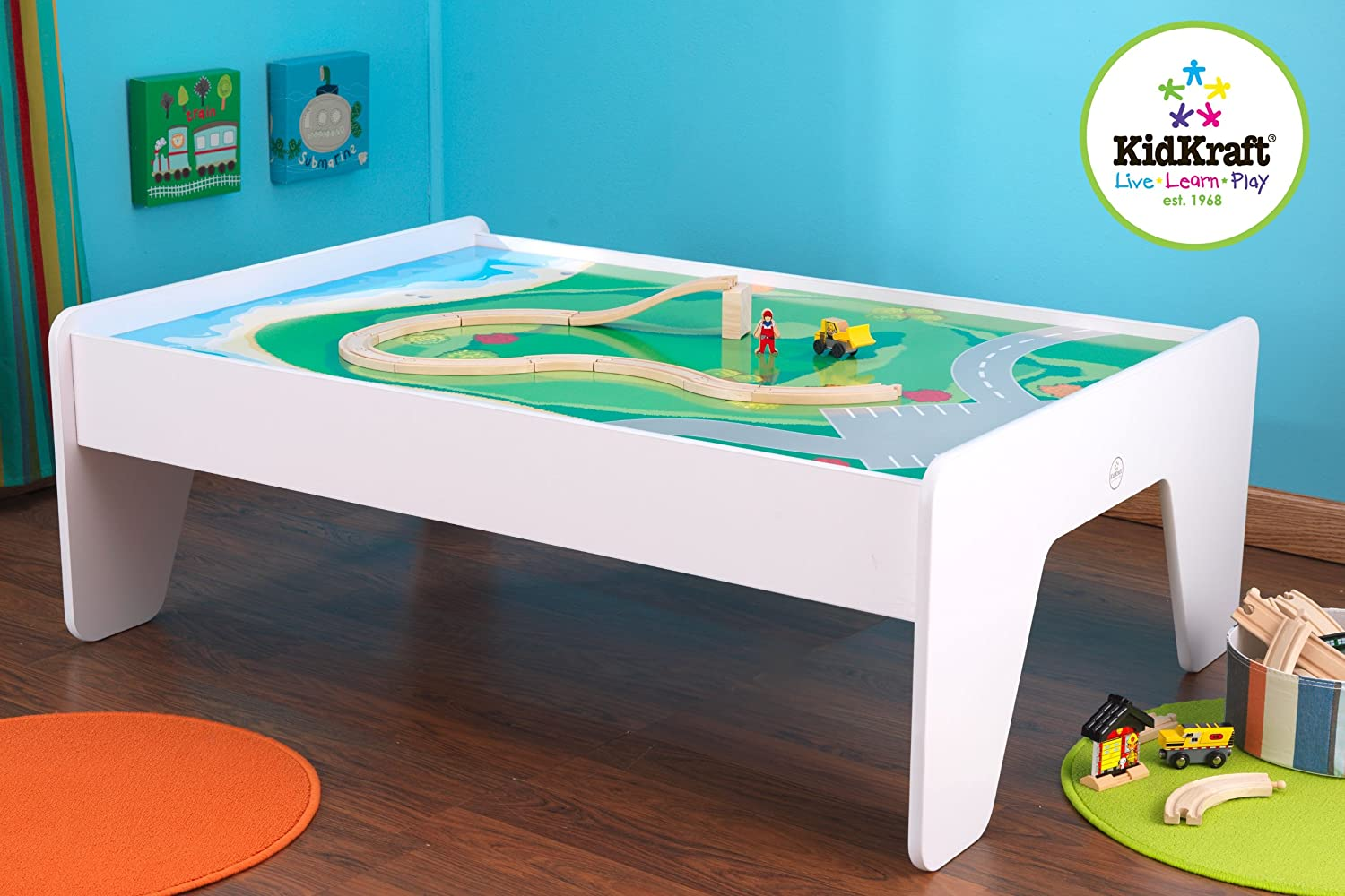 & Amazon.com: KidKraft Train Table - White: Toys \u0026 Games