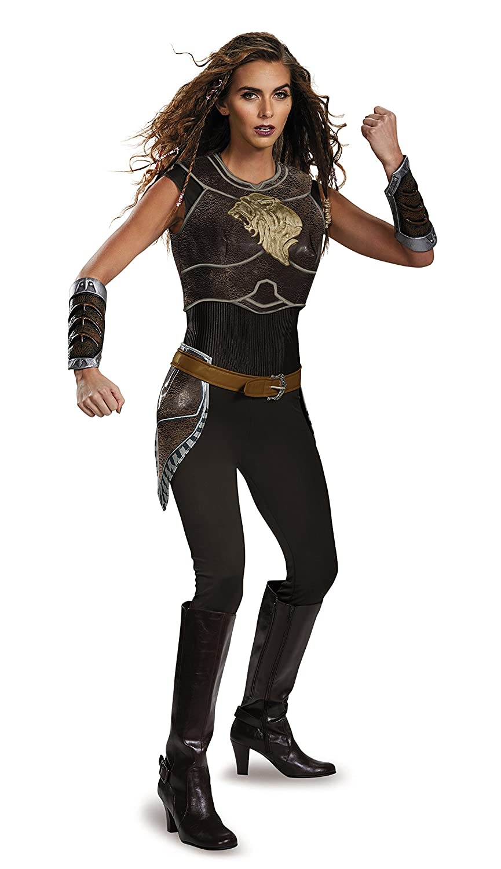 sc 1 st  Amazon.com & Amazon.com: Disguise Womenu0027s Warcraft Garona Deluxe Costume: Clothing