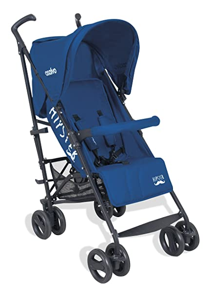 Asalvo Hipster - Silla de paseo plegable, color azul