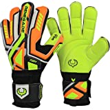 Renegade GK Fury Goalie Gloves (Sizes 7-11, 5 Cuts, Lvl 4) Pro-Tek Fingersaves -High Performance Pro Level Goalkeeper Glove, Amazing Value -German Giga Grip Palms - 30 Day Guarantee