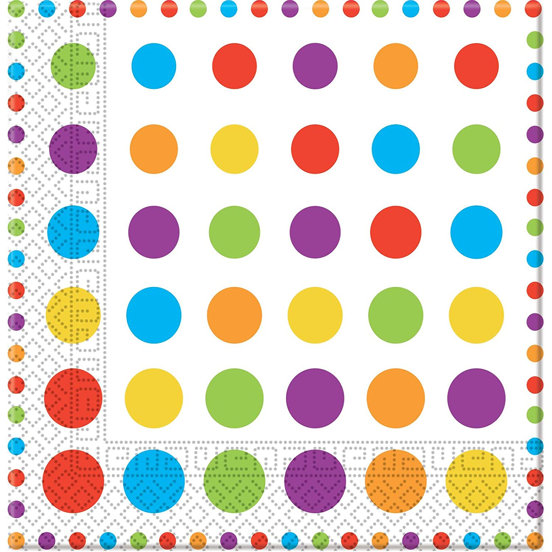 Orange Punkte 3-lagige Papierservietten 33x33cm