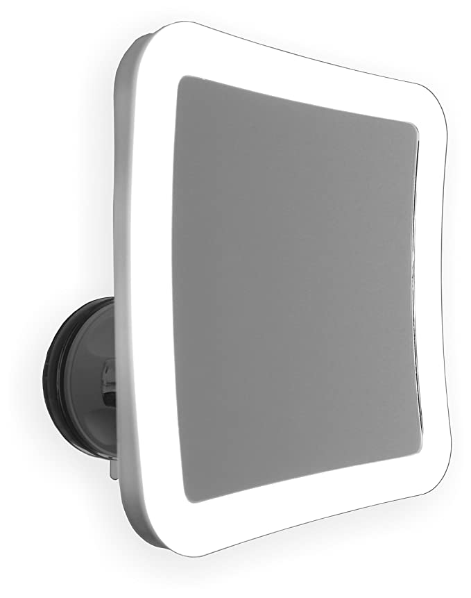 7X Lighted Makeup Mirror with Locking Suction Mount and Ball Joint Swivel