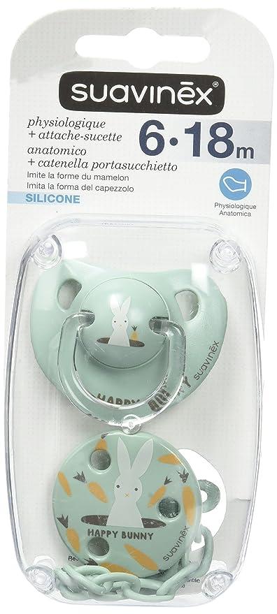 Suavinex - Chupete con tetina de ortodoncia, diseño de conejito ...