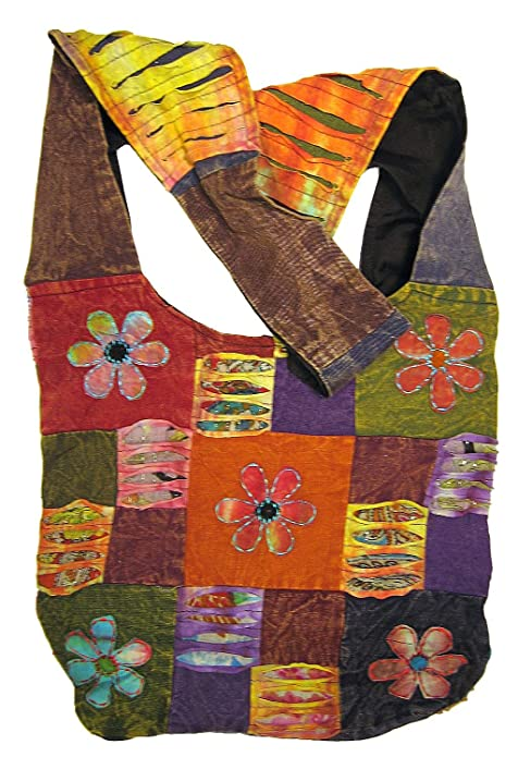 Amazon.com: Happy Flowers Razor Cut Patchwork Sling ...
