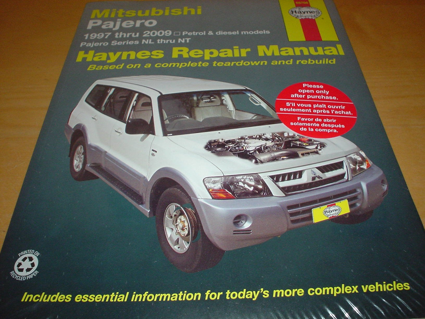 HAYNES MITSUBISHI SHOGUN / PAJERO Owners Manual Handbook 97- 09 3.0 6G72  3.5 6G74 3.8 6G75 LITRE PETROL ENGINES 2.8 4M40 3.2 4M41 L DIESEL:  Amazon.co.uk: ...