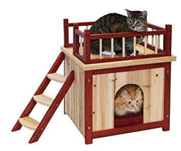 Kerbl Cat House Indoor, 44 x 50 cm: Amazon.co.uk: Pet Supplies