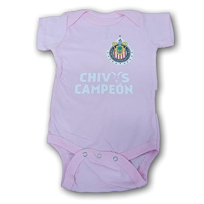 new product 1b256 a224c Amazon.com: Chivas del Guadalajara Pink Baby Bodysuit: Clothing