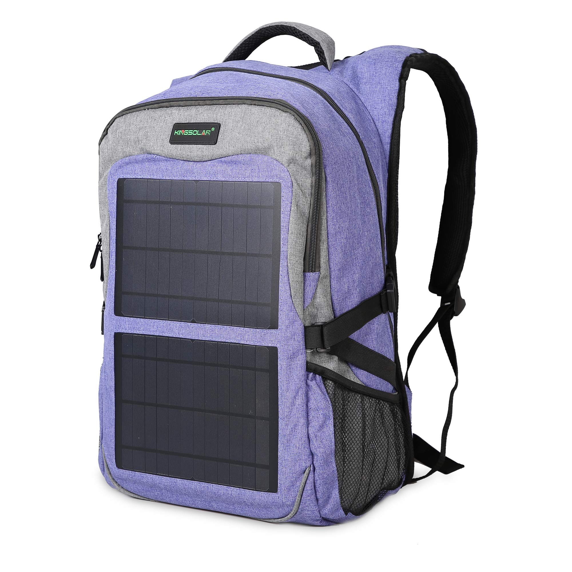 Kingsolar Multiple Function Solar Backpack with 12W Solar Panel Charger Two USB Ports for Laptop Electronic Devices