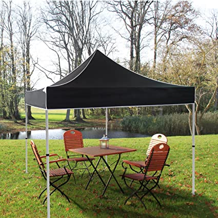 buy online 74dd0 e230a Amazon.com : 10x10 Canopy Pop Up Tent Black Heavy Duty ...