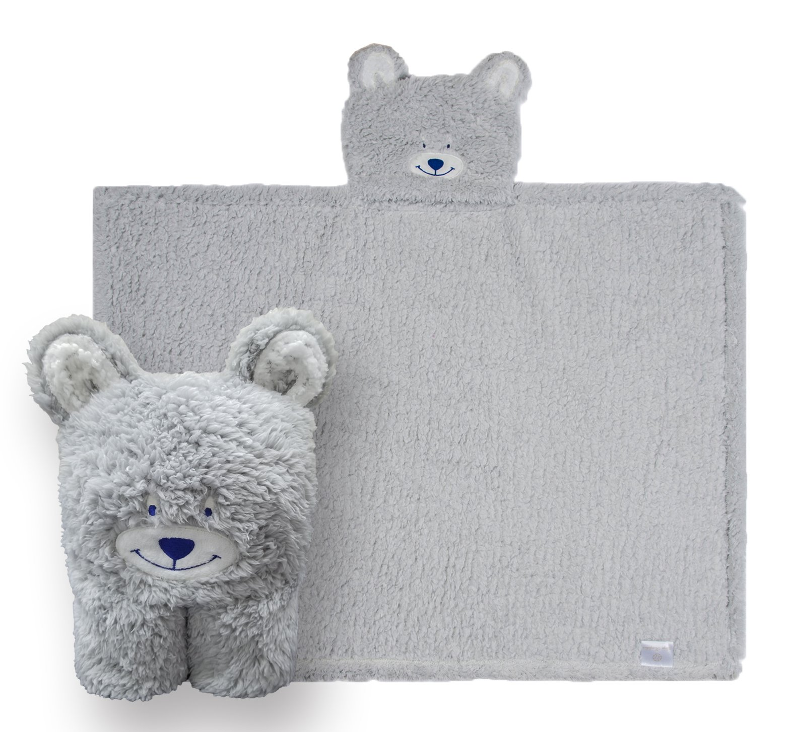 Kids Hooded Blanket,Cute Animal Bear Plush Sherpa Fleece Bath Throw,Fit 3-10 Years Old,Best Gifts for Boys and Girls