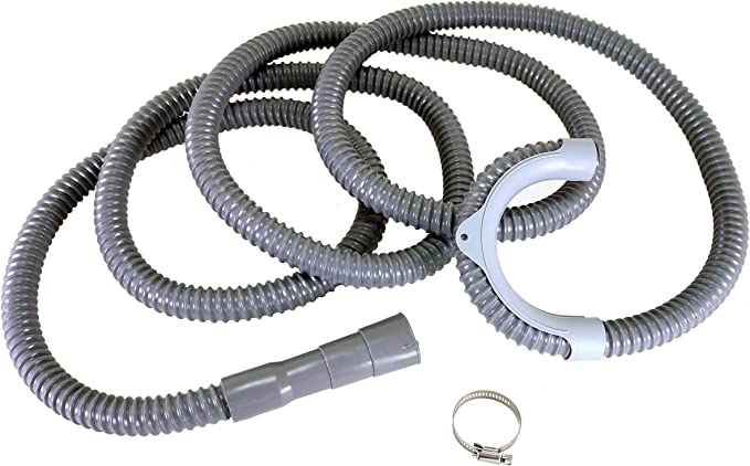 Installation Washer Hose Drain Replacement Corrugated and Flexible Washer Drain Hose 14 Ft Drain Hose Reinforced Washer Hoses with Clamp Universal Washing Machine Drain Hose X-Long