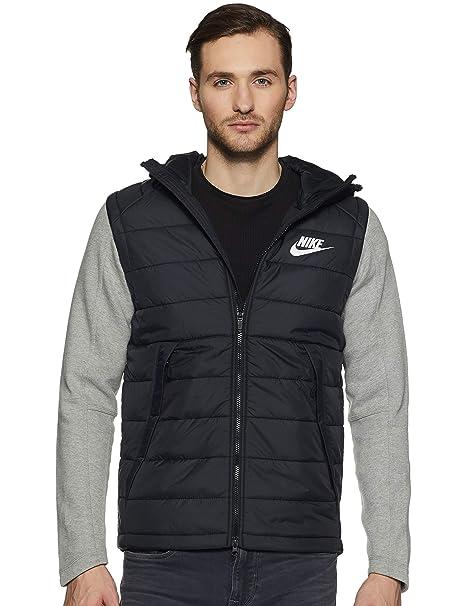 fd35a78ce6ca Nike Men Black 100% Polyester NSW AV15 SYN HD JKT  Amazon.in ...