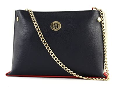 Tommy Hilfiger Chain Crossover, Sacs bandoulière femme, (Tommy Navy), 7.4x15x24 cm (B x H T)