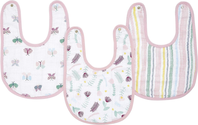 aden + anais Essential - Babero de algodón 100% muselina – Fauna floral paquete de 3: Amazon.es: Bebé