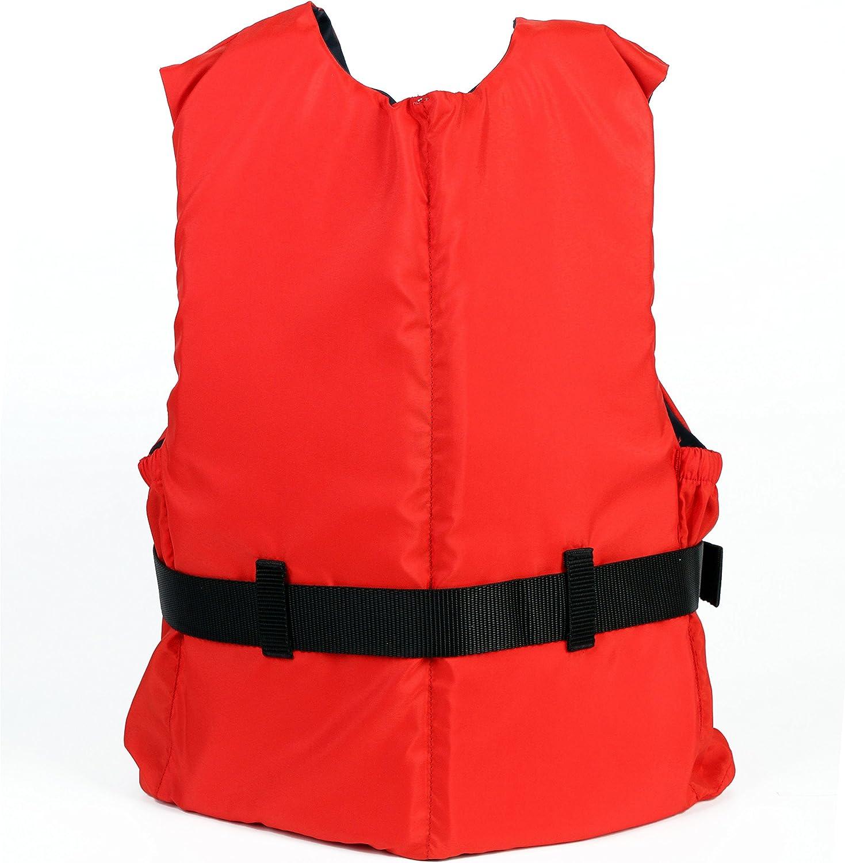 con Strisce Riflettenti Leader Accessories Giubbotto Galleggiante Gilet Aiuto al Galleggiamento Unisex Gilet da Pesca con Approvazione CE EN ISO12402