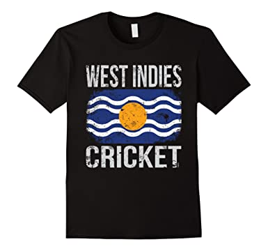 Mens West Indies Cricket Indian Flag T Shirt 2XL Black