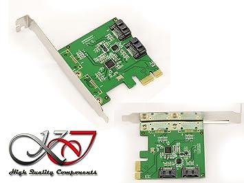KALEA-INFORMATIQUE. Tarjeta de controlador PCI Express PCIe 2 puertos SATA 3 6G. Con función RAID 0 1 SPAN. Low y High Profile. Chipset ASM1061R
