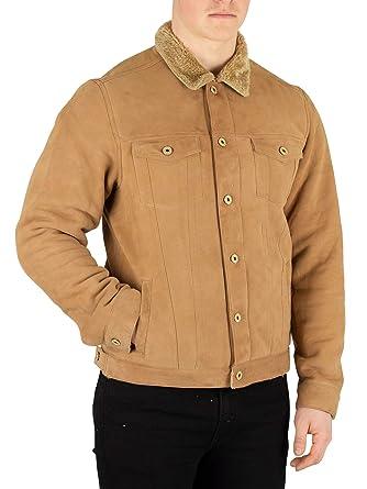 0d0596955 Scotch & Soda Men's Suede Trucker Jacket, Brown at Amazon Men's ...