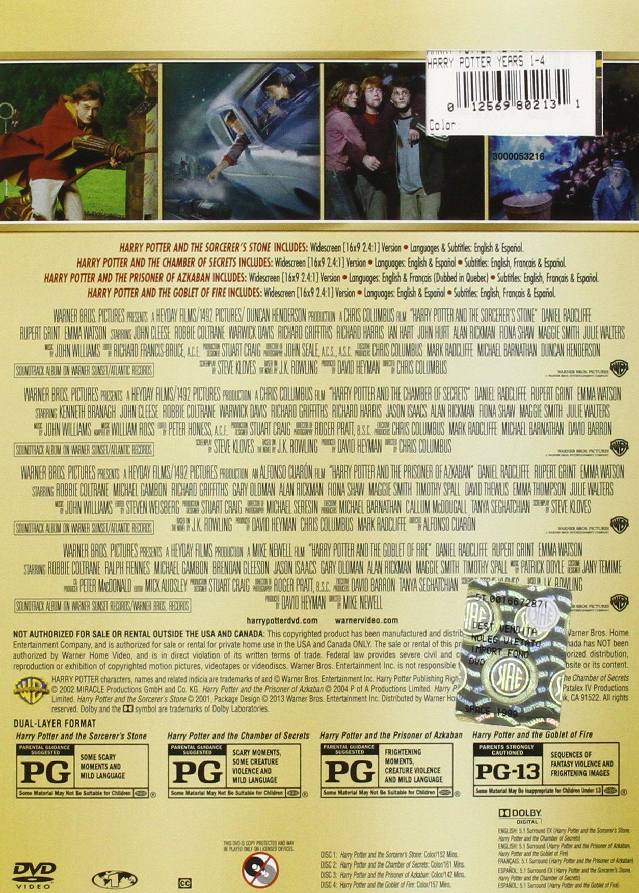 Harry Potter: Years 1-4 (Harry Potter and the Sorcerer's Stone / Chamber of Secrets / Prisoner of Azkaban / Goblet of Fire)