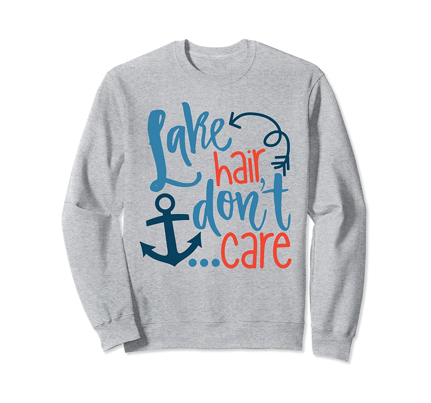 Lake Hair Don't Care Vacation Sweatshirt-mt