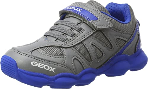 Ventana mundial Inevitable herida  Geox Boys J MUNFREY Sneaker, Grey Grey Royal C0069, Junior UK Child:  Amazon.co.uk: Shoes & Bags