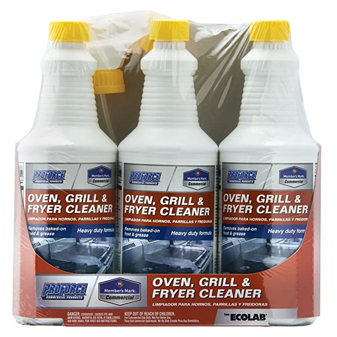 Members Mark Commercial Oven, Grill and Fryer Cleaner, 32 oz, 3 Piece
