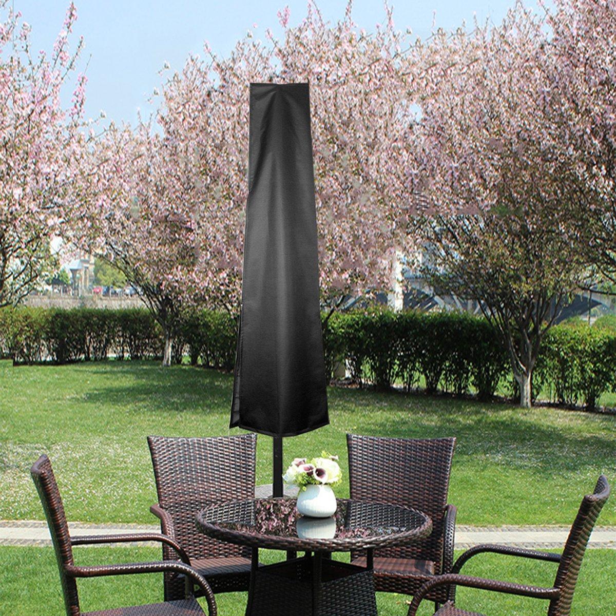 bedee Housse de Protection pour Parasol, Déporté 210D Oxford Couverture pour Parasol (Diamètre de Parasol 2.4-3.5m), Antipoussière Imperméable Résistant aux UV Intempéries, avec Sac de Rangement