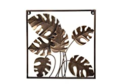 Malhar Handicraft Heavy Design Metal Abstract Luxurious Wall Decor for Modern Home Decoration, Kitchen, Living Room, Drawing Room, 18 X 18 Inches