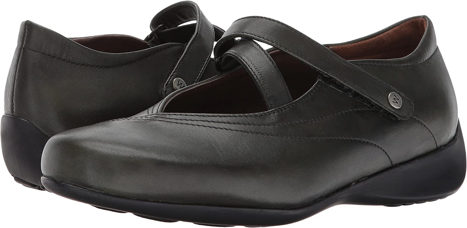 Wolky Comfort Mary Janes Silky B06XKSNL8R 41 M EU / 9.5-10 B(M) US|Forest Vegi Leather