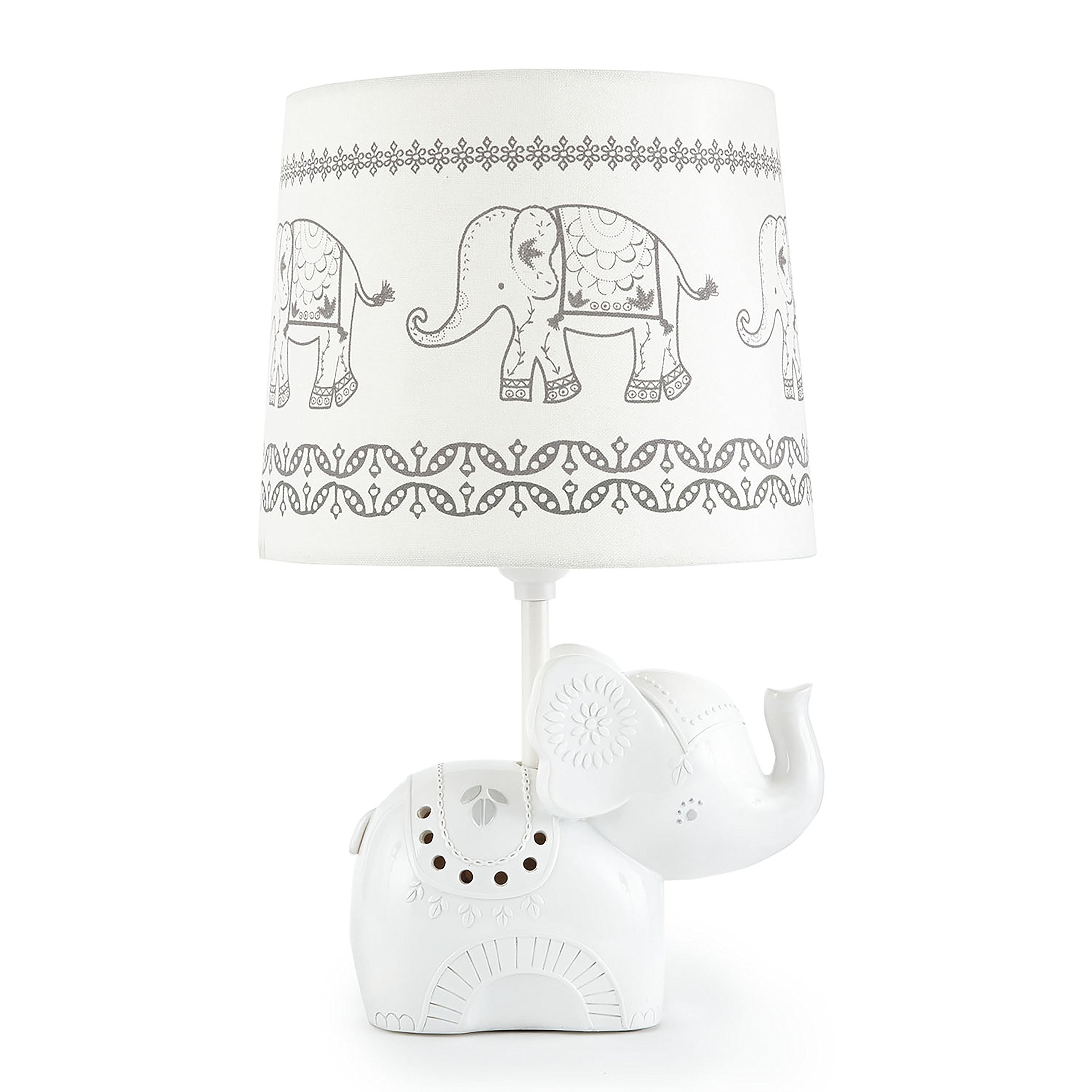 Levtex Home Baby Ely Elephant Lamp Base and Shade, Grey by Levtex home