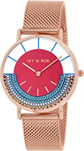 Ivy N Rox Women's Analog Dial Stainless Steel Band Watch - BIR10004-804
