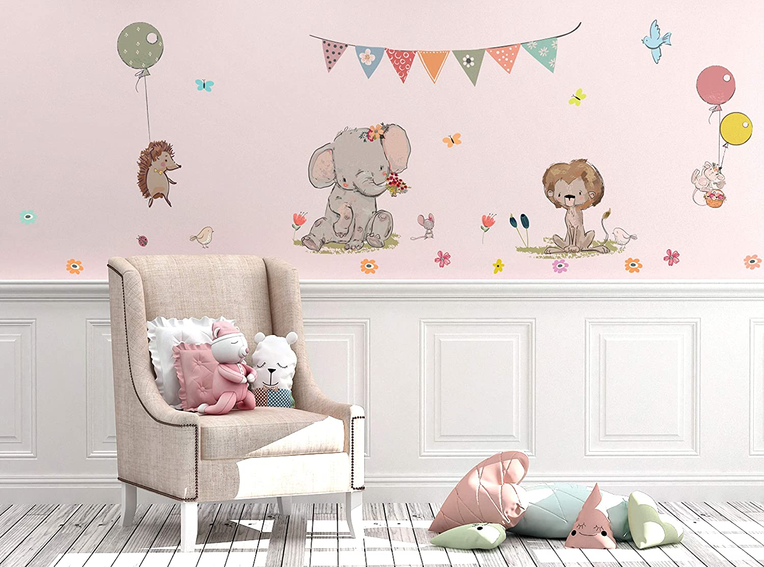 amazon com kids wall decals stickers nursery decor baby room decoramazon com kids wall decals stickers nursery decor baby room decor nursery wall stickers safari woodland scene for baby toddler boys \u0026 girls rooms peel and