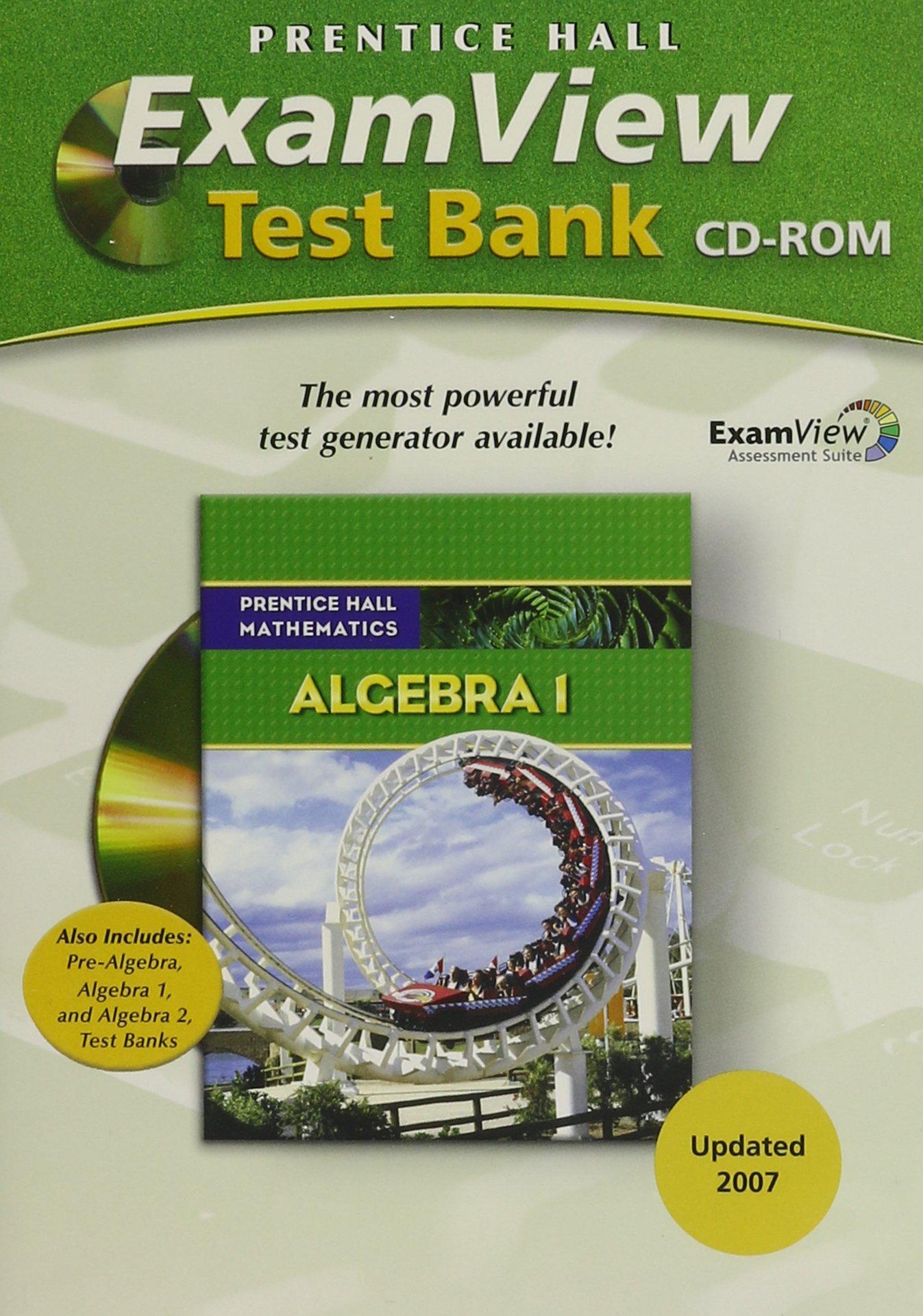 Buy Prentice Hall Math Algebra 1 Examview Test Generator CD 2007c ...
