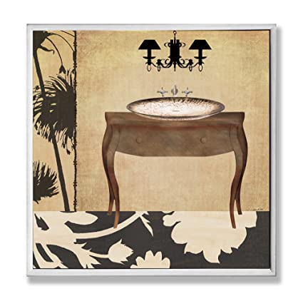 Amazon.com: The Stupell Home Decor Collection Vanity with Black ...