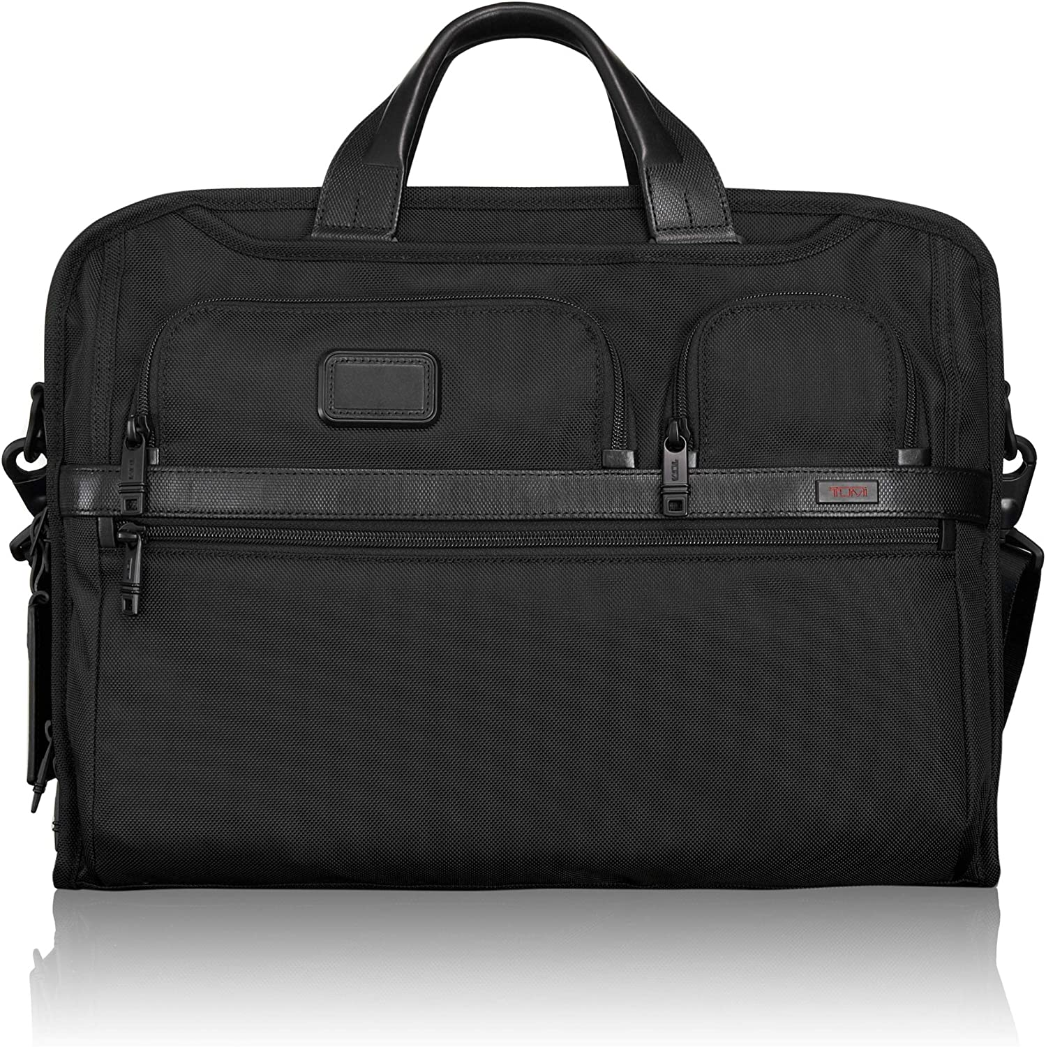 TUMI – Alpha 2 Compact Large Screen Laptop Brief Briefcase – 17 Inch Computer Bag for Men and Women – Black