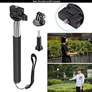 Neewer 8-In-1 Action Camera Accessory Kit for GoPro Hero 1/2/3/3???, Hero 4/5 Session, SJ4000/5000 Nikon and Sony Sports Camera in Climbing Bike